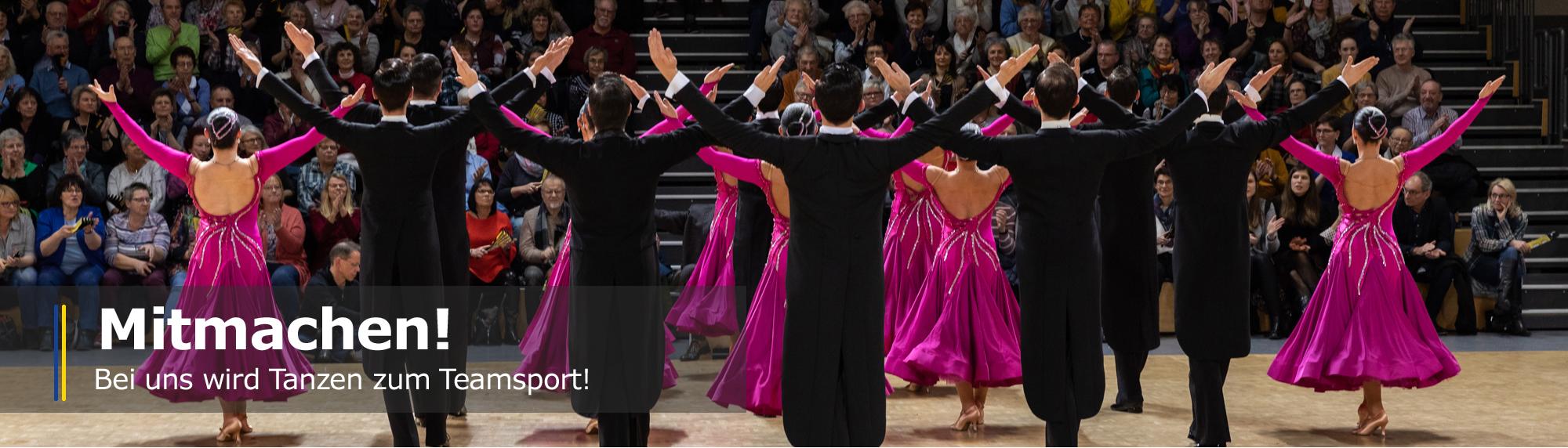 Mitmachen - Bei uns wird Tanzen zum Teamsport!